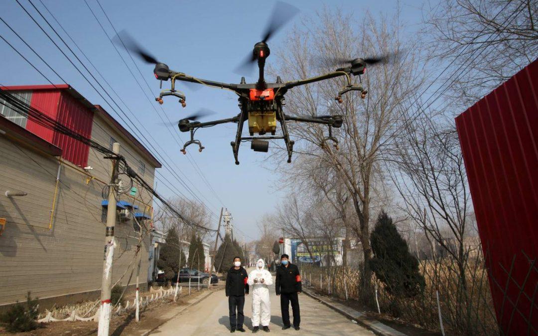 Drony w walce w COVID19